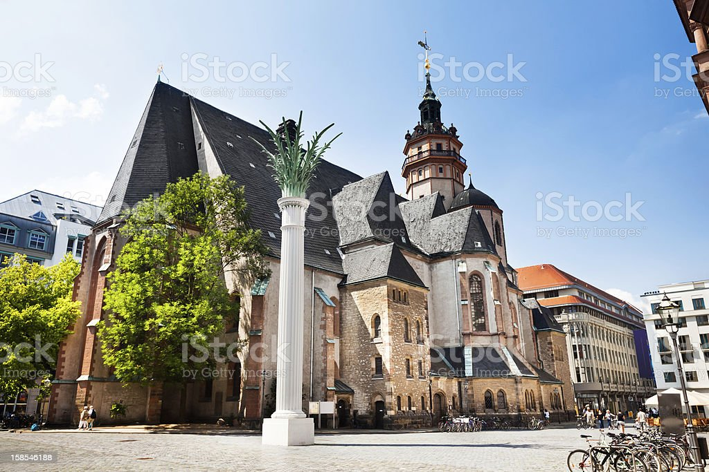 St. Nicholas Church, Leipzig in Germany stock photo
