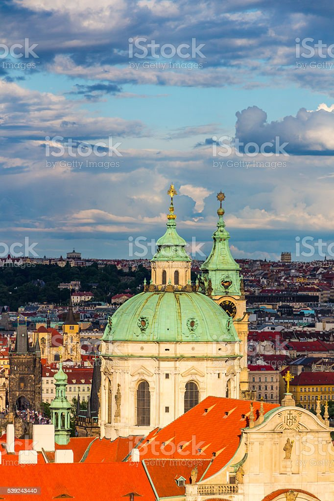 St. Nicholas Church, Old Town Square in the Czech Republic royalty-free stock photo
