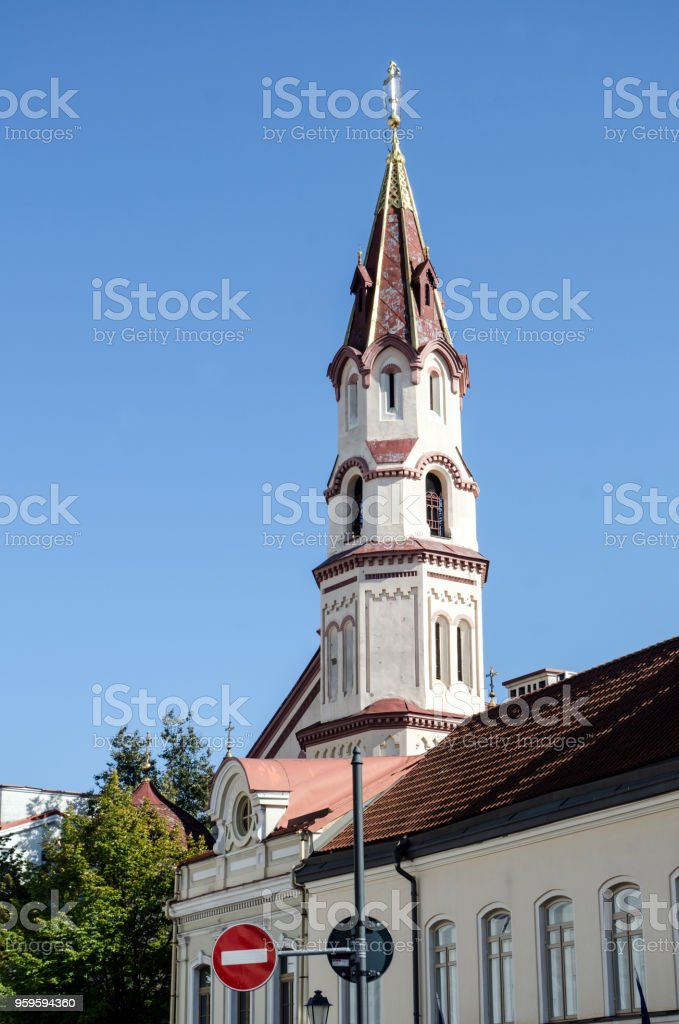St. Nicholas Church (vertical) stock photo