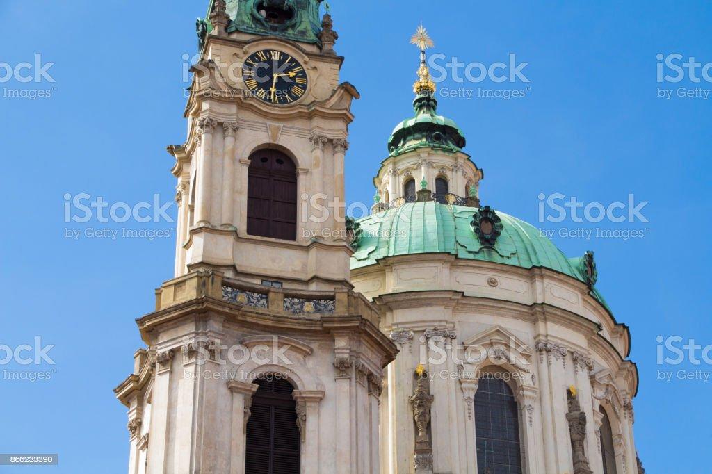 St. Nicholas Church. Prague. Czech Republic stock photo