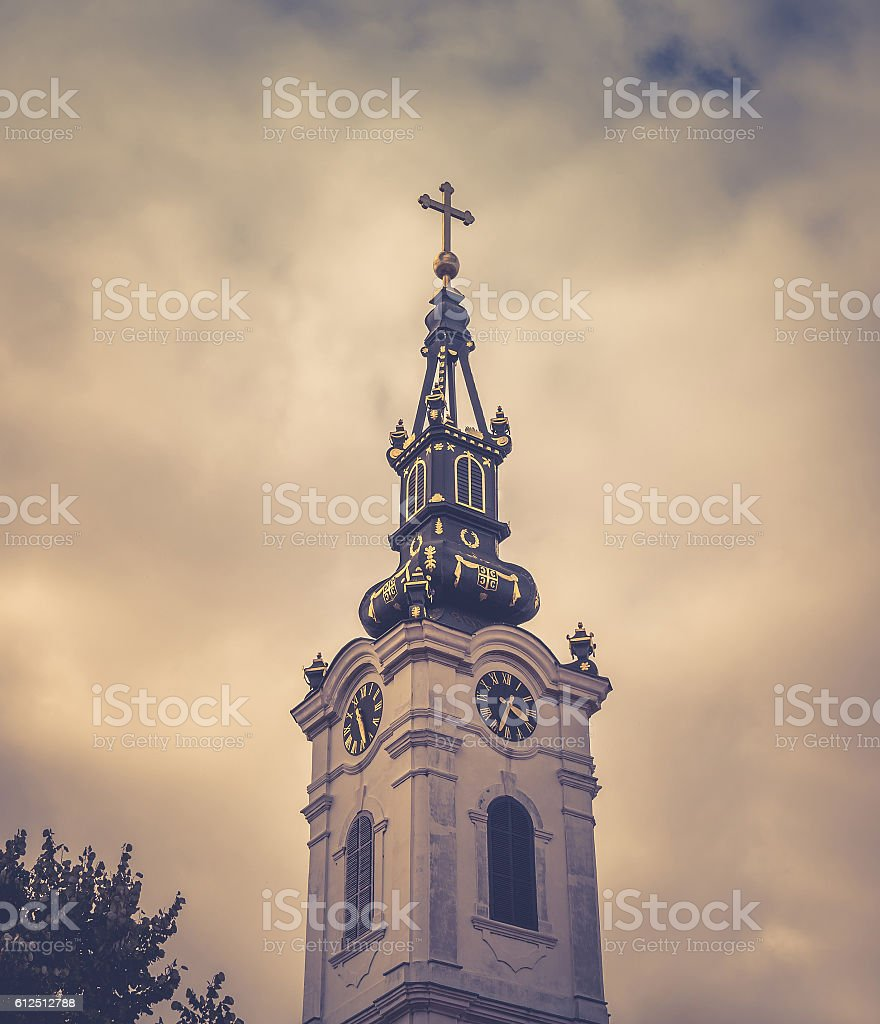 St. Nicholas Church Zemun stock photo