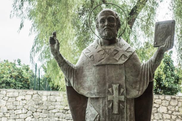 saint-nicolas, demre, turquie - saint nicolas photos et images de collection