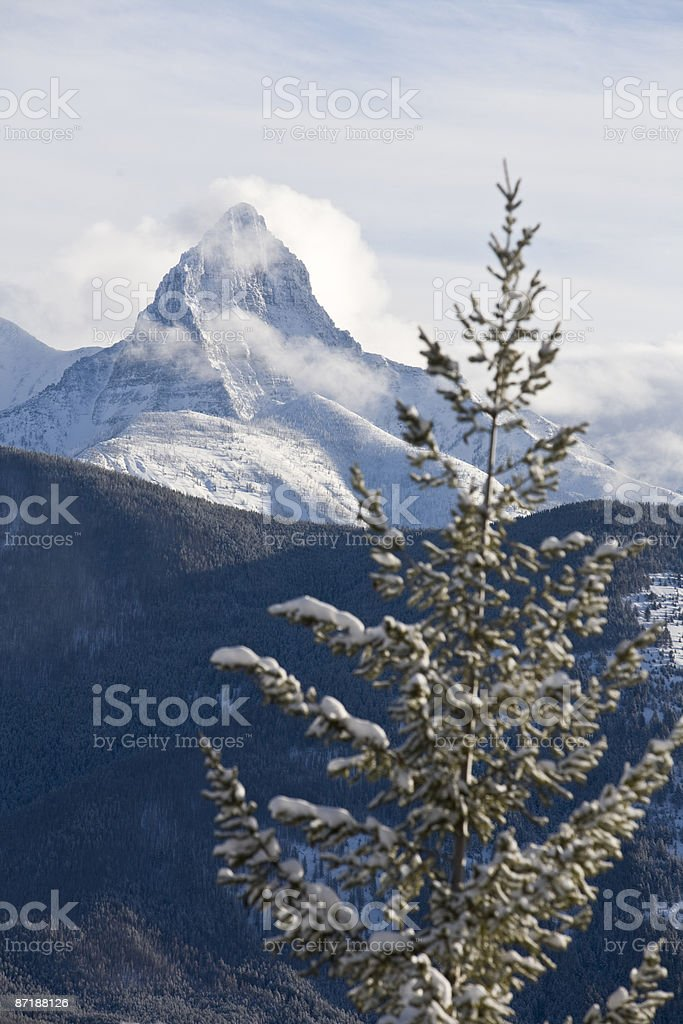 St. Nick in Glacier National Park. royalty-free stock photo