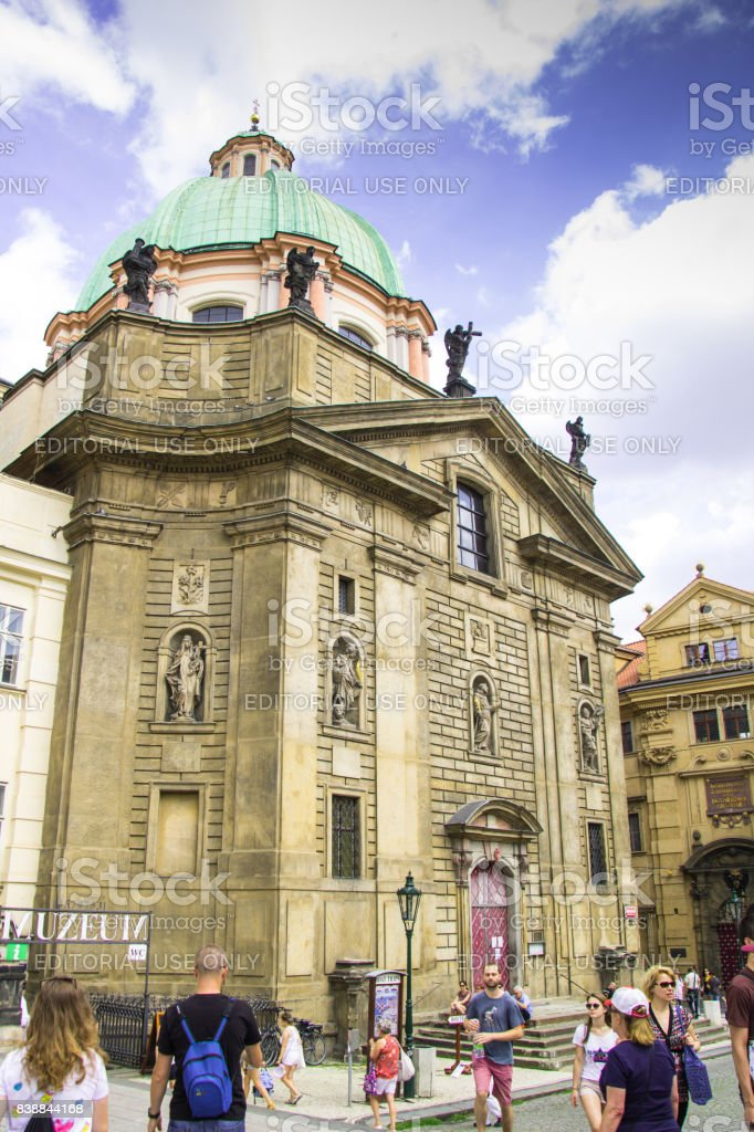 St. Nicolai church, Praha stock photo