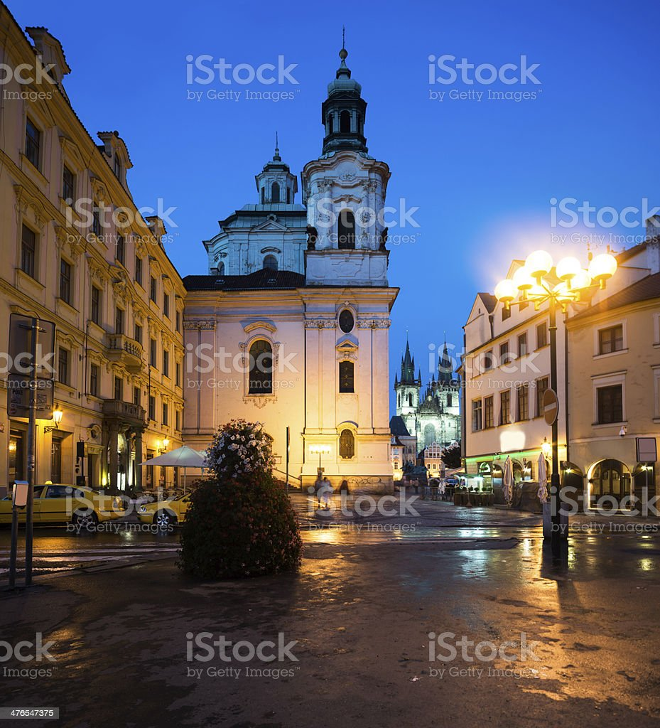 St. Nicolas Church in Prague royalty-free stock photo