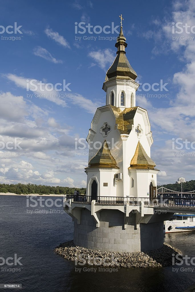 St. Nicolas the Miracle-Worker church on water royalty-free stock photo
