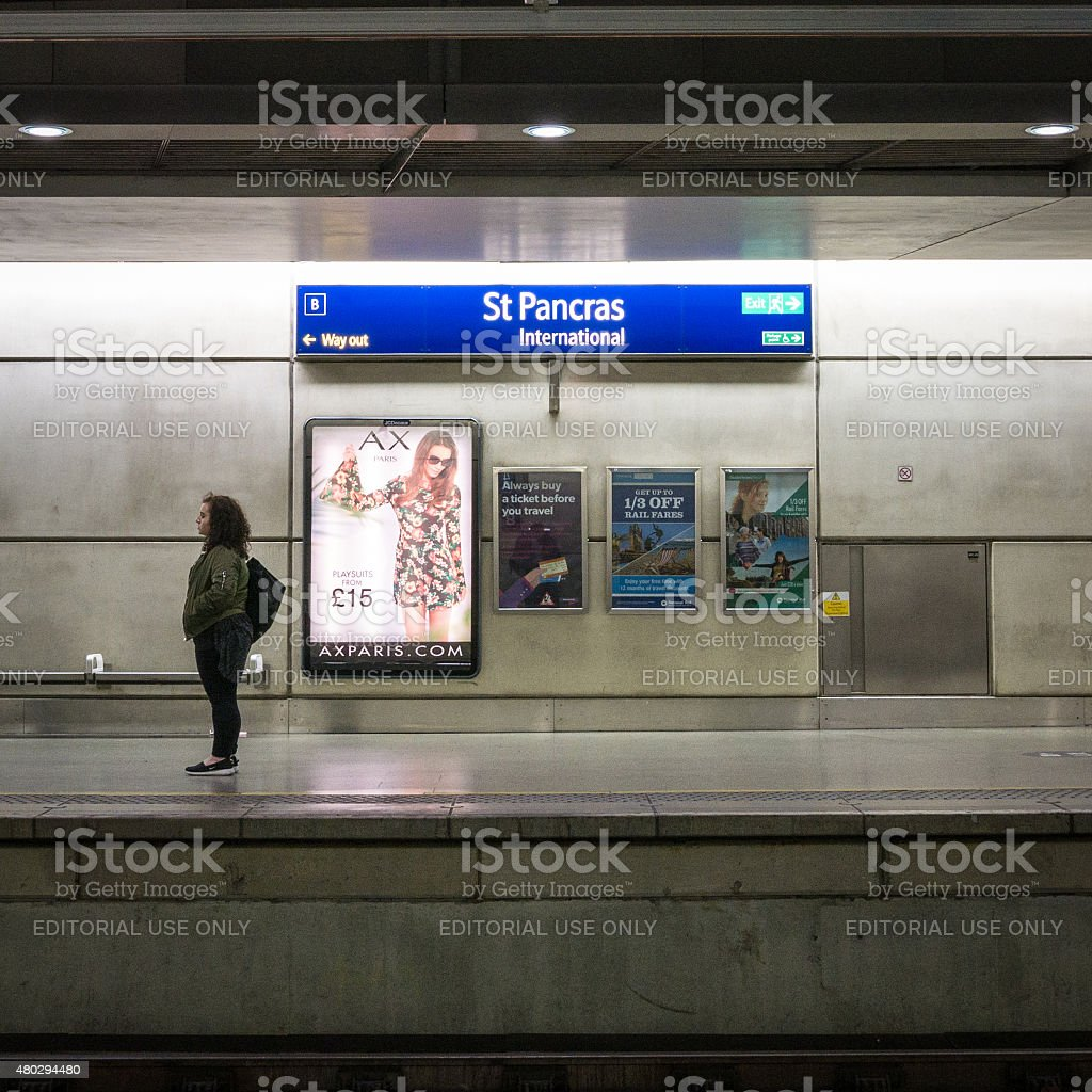 St. Pancras International train station, London, UK stock photo
