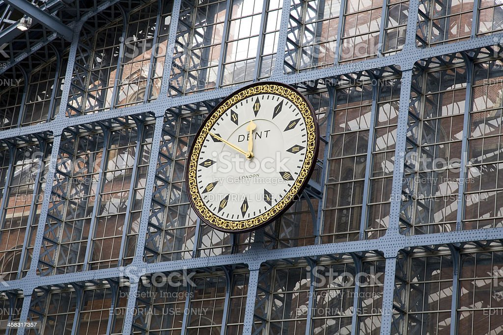 St Pancras Railway Station Clock By Dent of London royalty-free stock photo