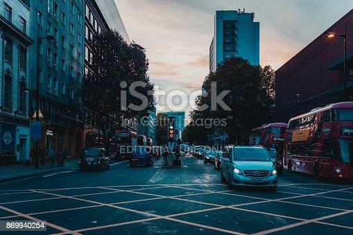 172864410istockphoto St Pancras Railway Station, Euston Road, Traffic, Commuters 869940254