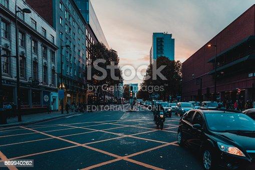 172864410istockphoto St Pancras Railway Station, Euston Road, Traffic, Commuters 869940262
