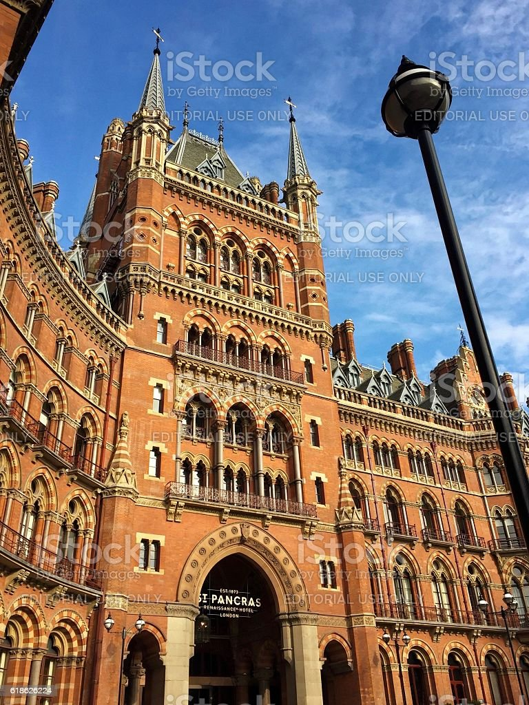 St. Pancras Renaissance Hotel, King's Cross, London stock photo
