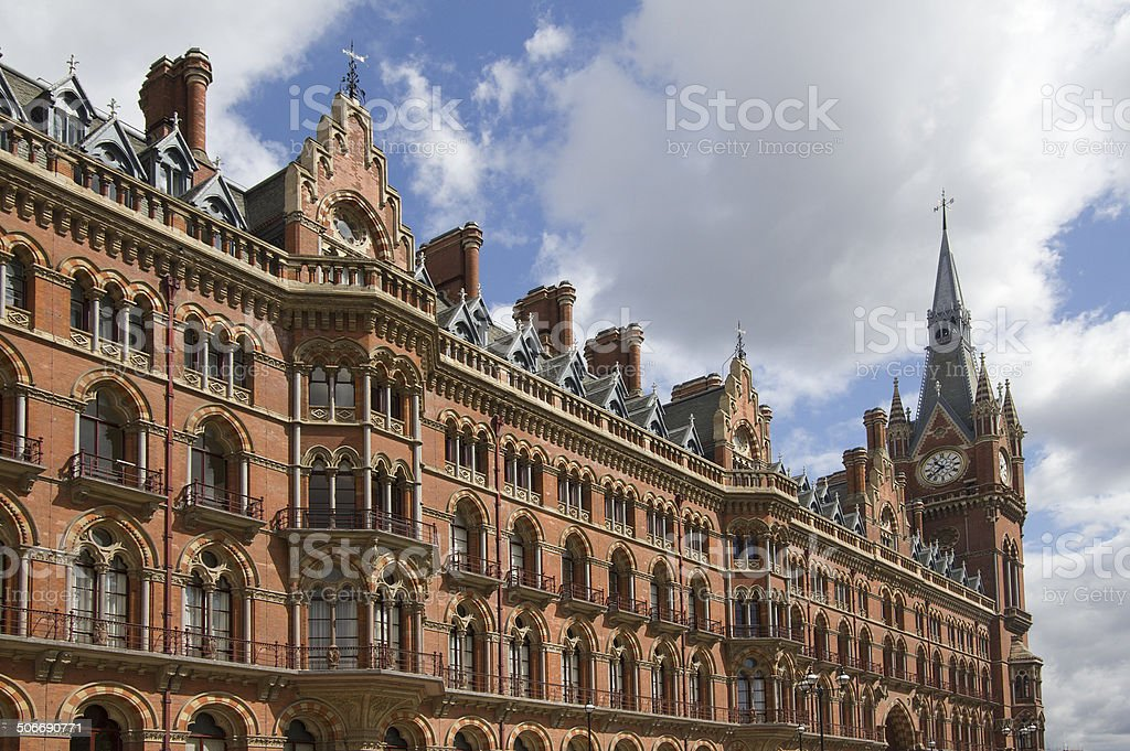 St. Pancras Station London stock photo