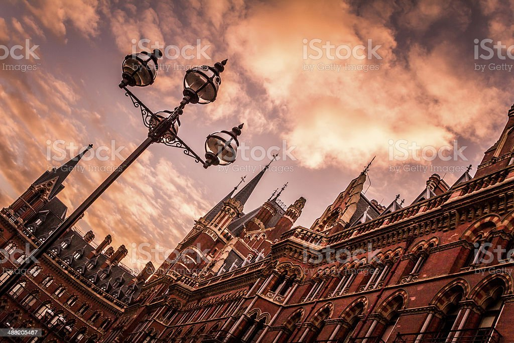 St Pancras Station stock photo