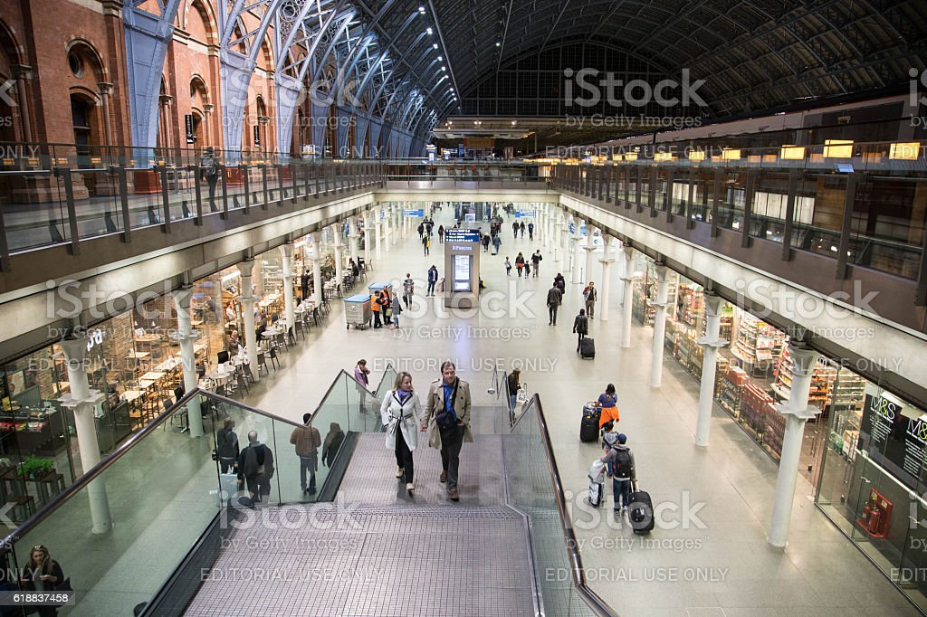 St. Pancrass International Station, London, UK stock photo