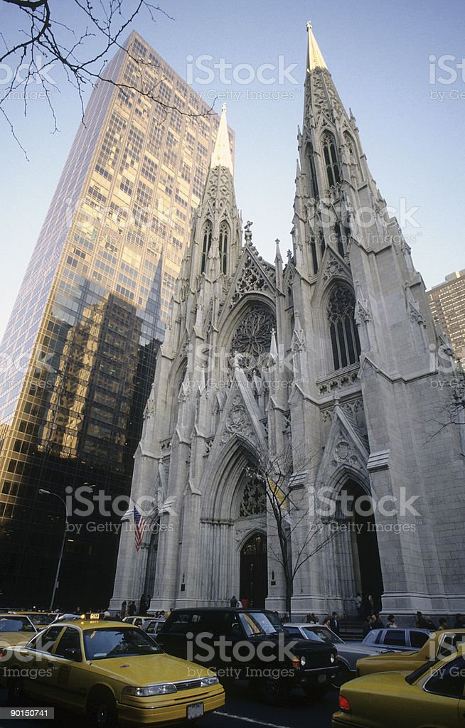 St. Patrick Cathedral in New York city stock photo