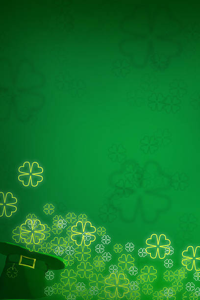 st patrick day background abstract - st patricks day background stock photos and pictures