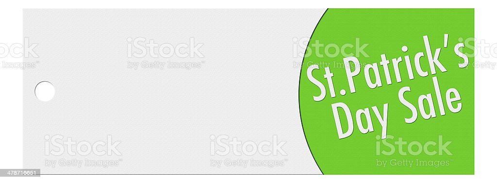 St. patrick day price banner stock photo