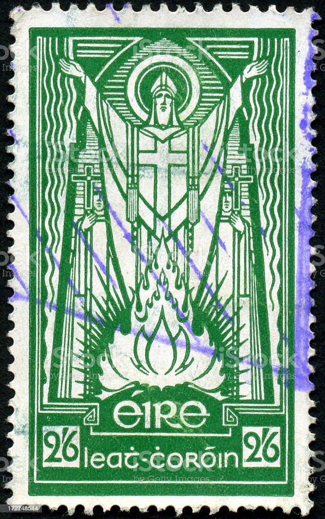 St. Patrick Stamp stock photo