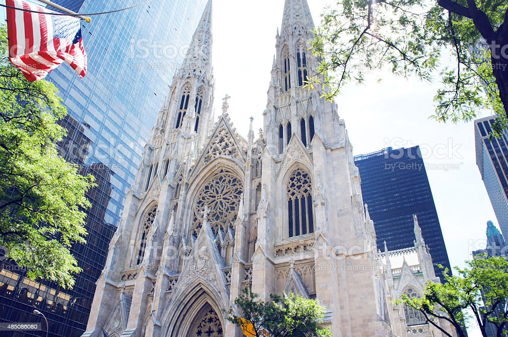 St. Patrick's Cathedral at Manhattan stock photo