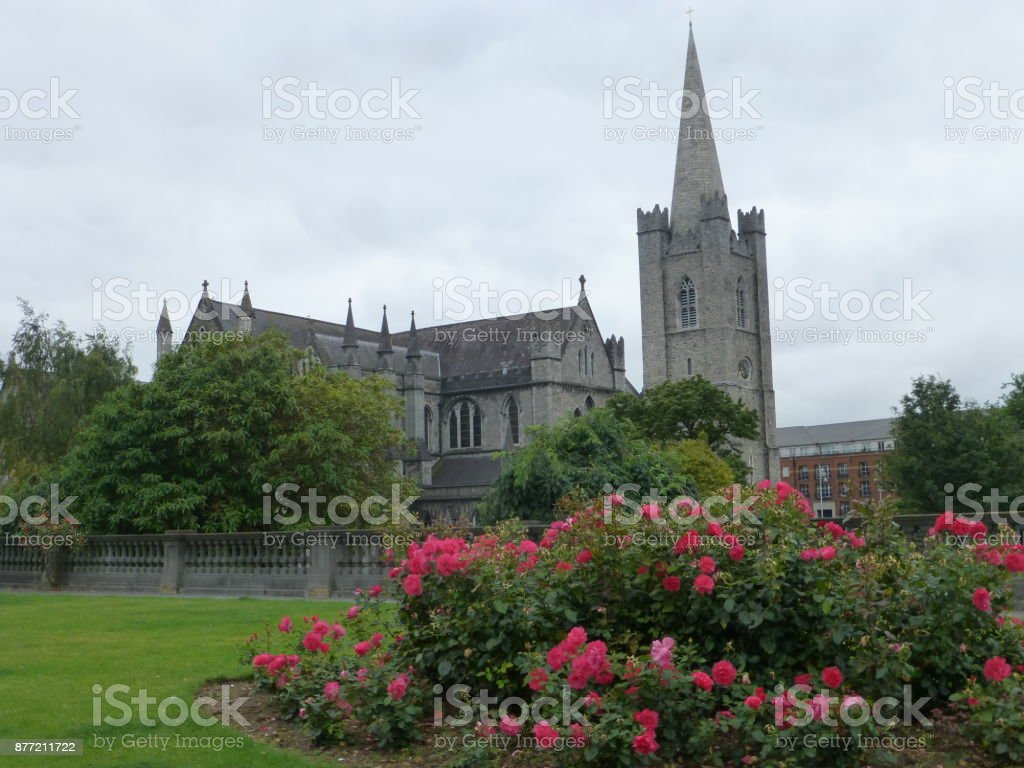 St. Patrick's Cathedral, Dublin stock photo