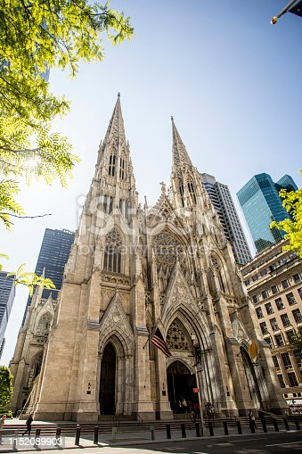 Image of St. Patrick's Cathedral exterior in Manhattan New York