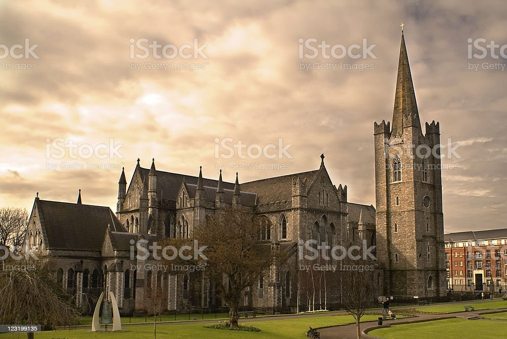 St. Patrick's Cathedral in Dublin, Ireland. stock photo