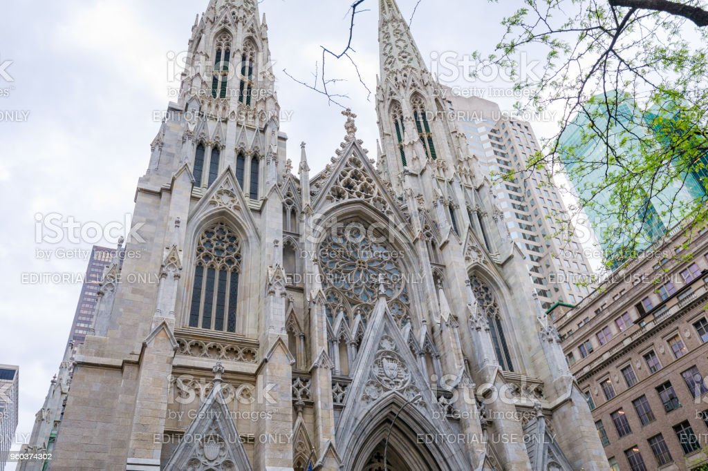St. Patrick's Cathedral in New York City, New York stock photo