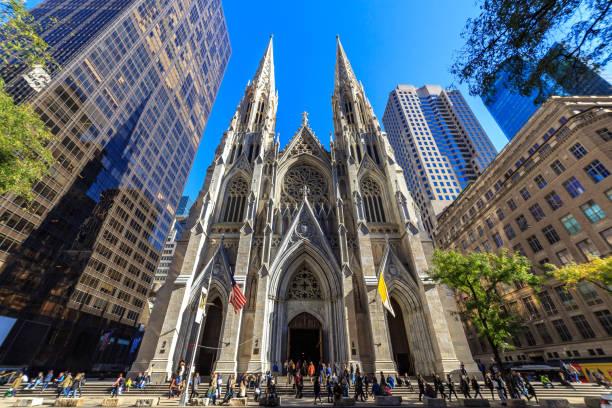 St Patrick's Cathedral Manhattan stock photo