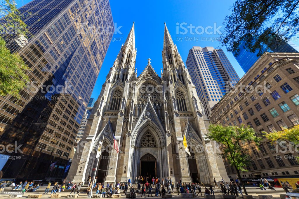 St Patrick's Cathedral Manhattan stock photo