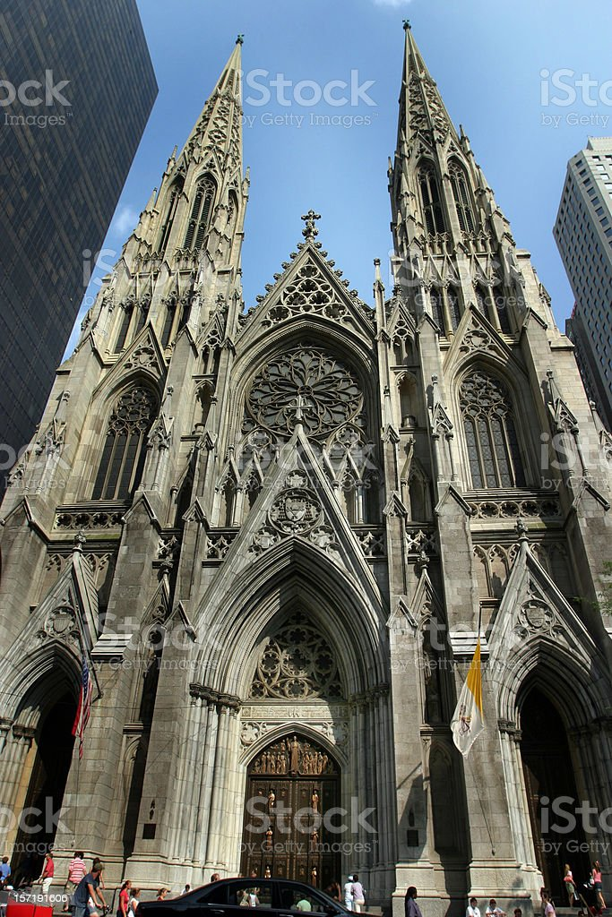 St. Patrick's Cathedral New York City royalty-free stock photo