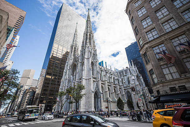 St. Patrick's Cathedral, New York City, United States stock photo