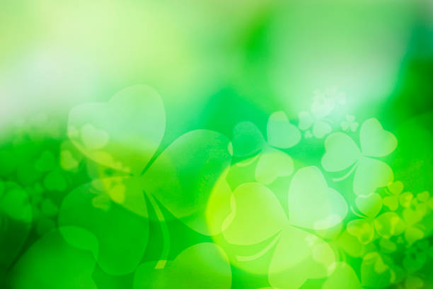 st patricks day abstract - st patricks day background stock photos and pictures