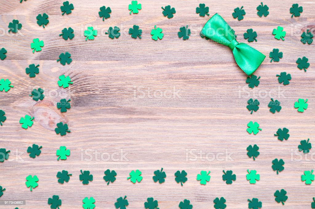 St Patrick's Day background, free space for festive text stock photo