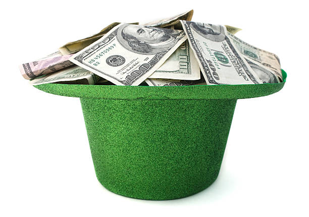 St. Patrick's Day Cash stock photo