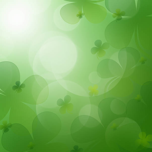 st. patrick's day celebration greeting card - happy st. patricks day stock photos and pictures