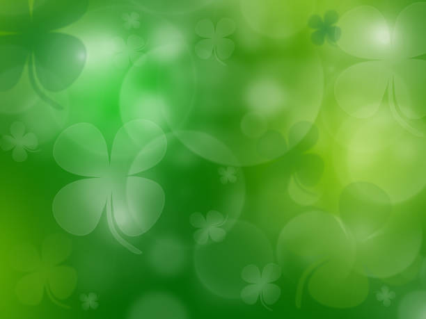 st. patrick's day celebration greeting card - st patricks day stock photos and pictures