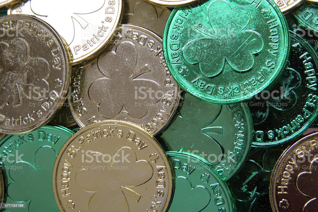 St Patrick's Day Coins royalty-free stock photo