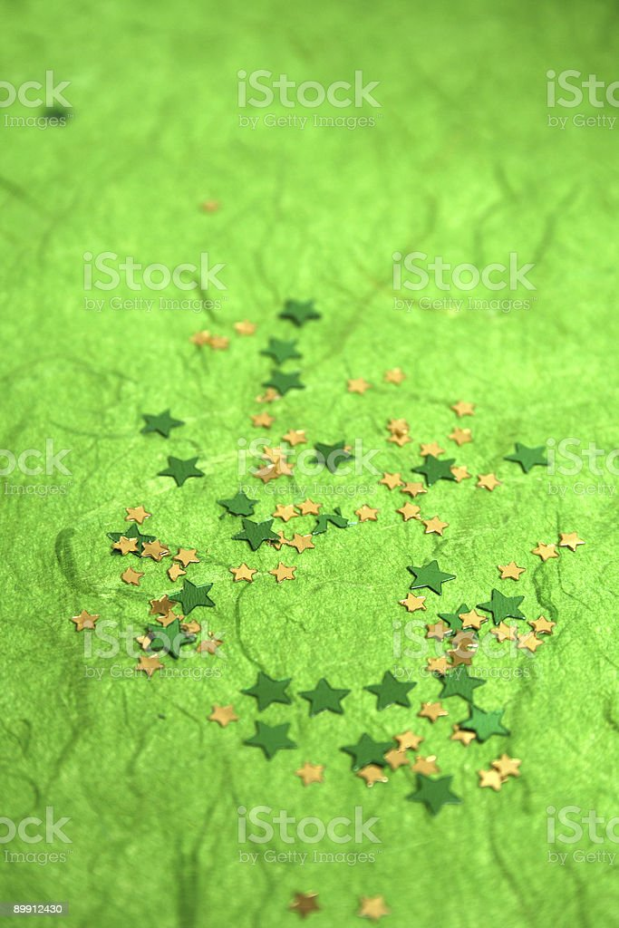 St. Patrick's Day confetti royalty-free stock photo