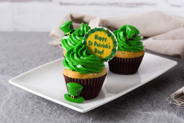 St. Patricks Day cupcakes – Foto
