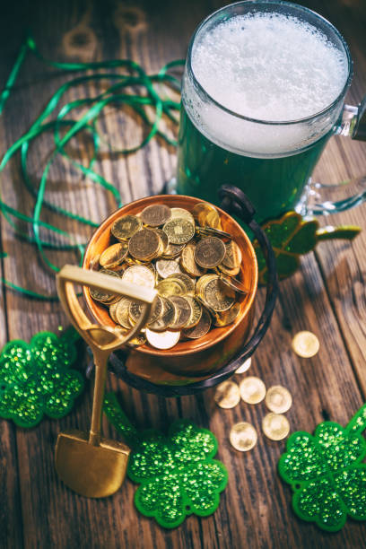 st. patricks day decorations - luck of the irish stock photos and pictures