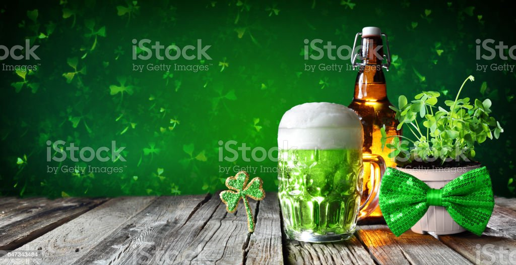 St Patrick's Day Drink Party stock photo