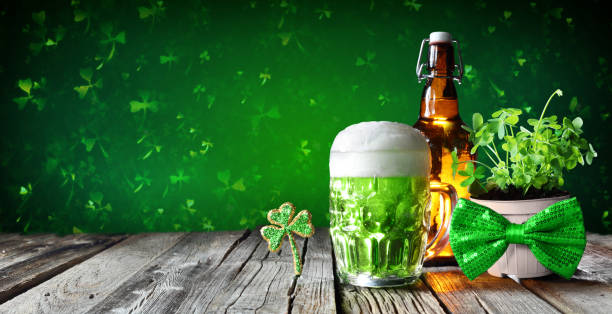 st patrick's day drink party - st patricks day background stock photos and pictures