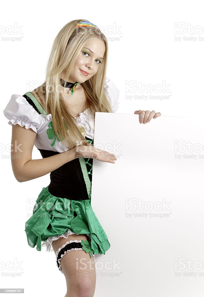 St. Patrick's Day girl royalty-free stock photo