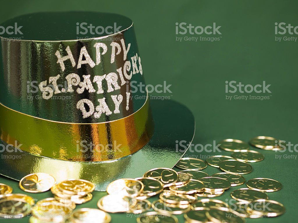 St. Patricks Day Gold royalty-free stock photo