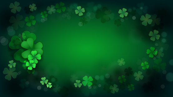 St. Patrick's Day, Green background by a St. Patrick's Day