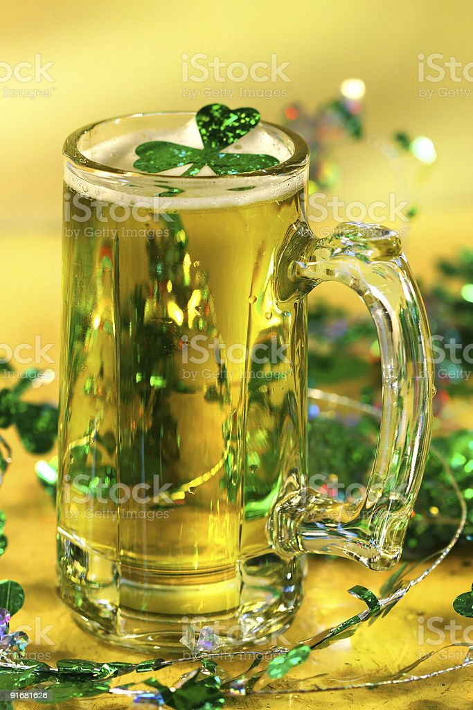 St Patrick's Day green beer royalty-free stock photo