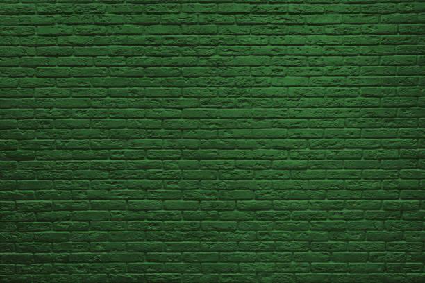 st patricks günü yeşil tuğla duvar. - aziz patrik günü stok fotoğraflar ve resimler