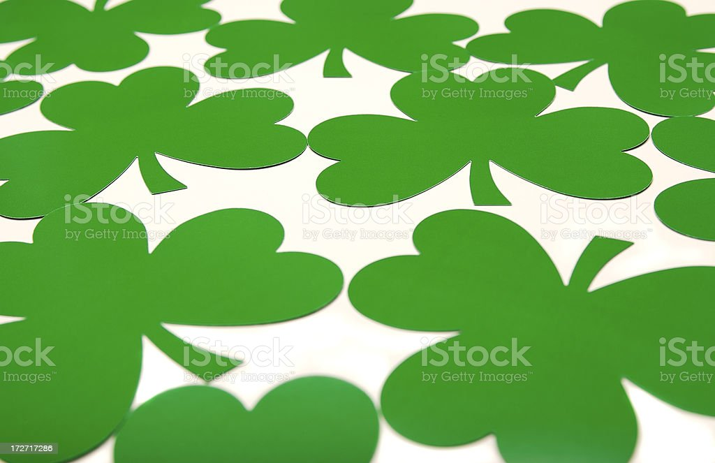 St Patricks Day Green Clover All Over stock photo