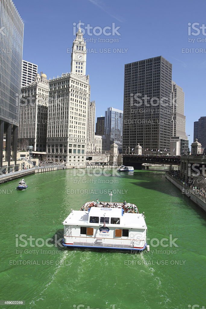 St Patrick's Day in Chicago royalty-free stock photo