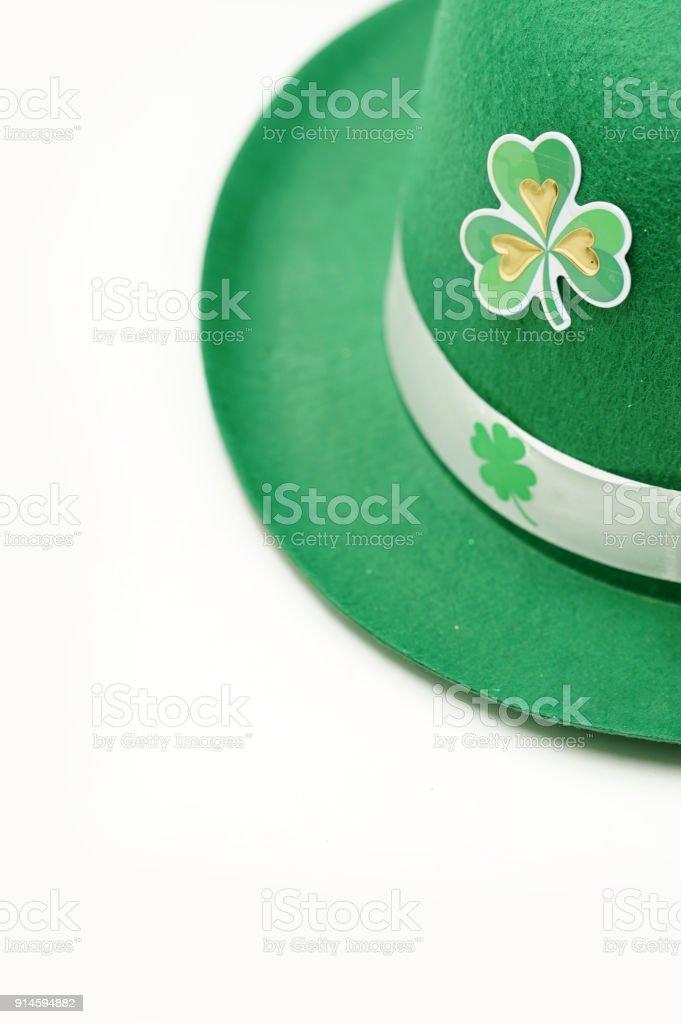 St. Patricks day isolated on white stock photo
